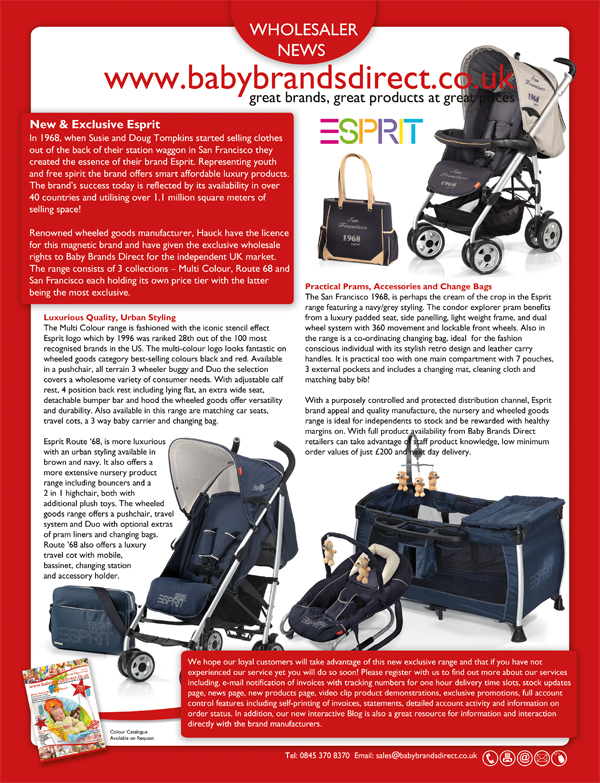 Buy Esprit Wholesale from Baby Brands Direct