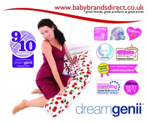 Comfort from dreamgenii® exclusive at www.babybrandsdirect.co.uk