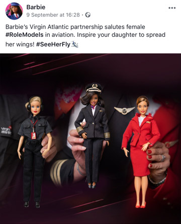Barbie's Partners With Virgin Atlantic & an insight to 2020