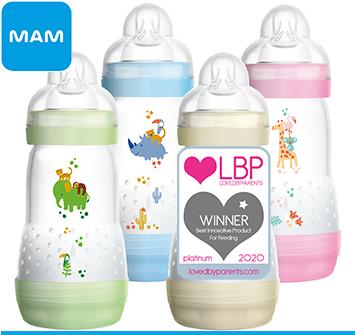 MAM award winning feeding bottles
