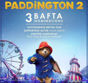 3 BAFTA Nominations for Paddington Bear