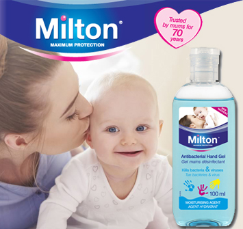 Milton #WhyStockIt Hand Gel Kills 99.9% of Germs in 30 Seconds