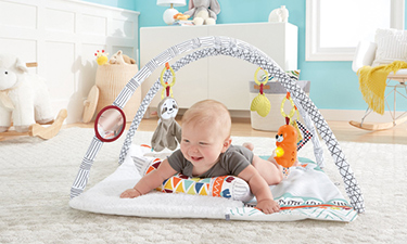 Activity Gyms with Tummy Time Support