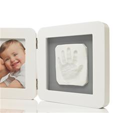 Baby Art My Baby Touch Print White Frame