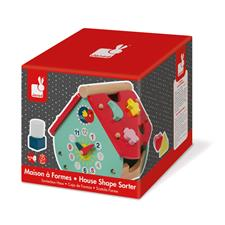Baby products distributor of Janod Baby Forest House Shape Sorter