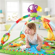 Baby products supplier of Fisher-Price Rainforest Melodies & Lights Deluxe Gym