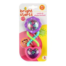 Bright Starts Pretty in Pink Barbell Rattle