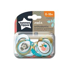 Tommee Tippee Closer to Nature Moda Soother 6-18m 2Pk