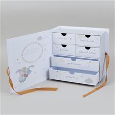 Disney Magical Beginnings Paperwrap Keepsake Box With 6 Drawers Dumbo