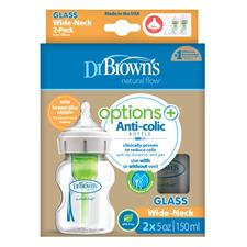 Distributor of Dr. Brown's Options+ Glass Bottle 150ml 2pk