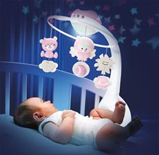 Distributor of Infantino 3 in 1 Projector Musical Mobile Pink