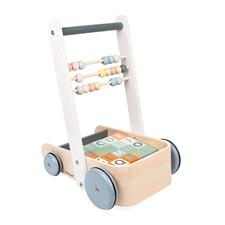Distributor of Janod Sweet Cocoon Cart with ABC blocks