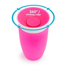 Distributor of Munchkin Miracle 360 Sippy Cup Pink 296ml