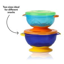 Distributor of Nuby Stackable Suction Bowls 2Pk