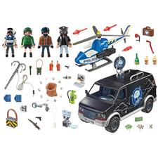 Distributor of Playmobil City Action Police Helicopter Pursuit with Runaway Van