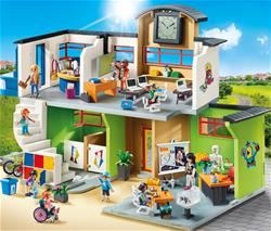 Distributor of Playmobil City Life Furnished School Building with Digital Clock
