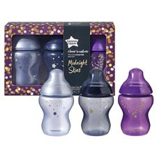 Distributor of Tommee Tippee Closer to Nature Bottles Midnight Skies 260ml 3Pk