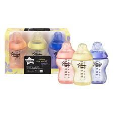Distributor of Tommee Tippee Closer to Nature Colour My World Bottle Pink 260ml 3Pk