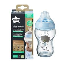 Distributor of Tommee Tippee Glass Bottle Blue Decorated 250ml