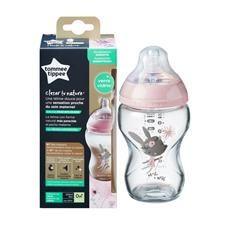 Distributor of Tommee Tippee Glass Bottle Girl Decorated 250ml