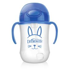 Dr Brown's Baby Weighted Straw Cup Blue 270ml
