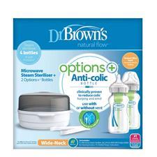 Dr Brown's Microwave Steriliser & Options+ Bottles 270ml 2Pk