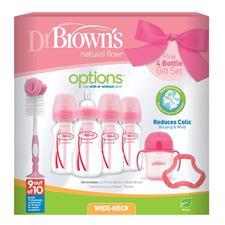 Dr Brown's Options 7pc Bottle Gift Set Pink