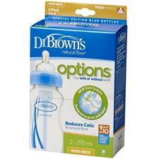 Dr Brown's Options Bottle Blue 270ml 2Pk