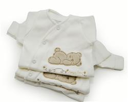 Gorgeous Gifts Organic Sleepy Bear Sleepsuit - 8-12lbs
