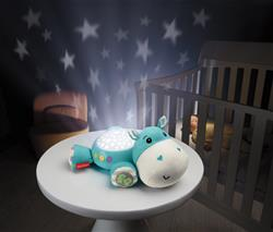 Hippo Plush Projection Soother Starry Night