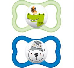 MAM Air Soother Blue 6m+ 2Pk