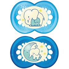 MAM Night Soother 6m+ 2Pk