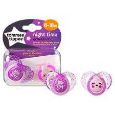 Closer to Nature Night Time Soother Twin Pack 6-18m