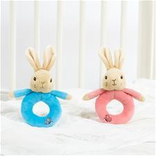 Peter & Flopsy Rabbit Plush Ring Rattles