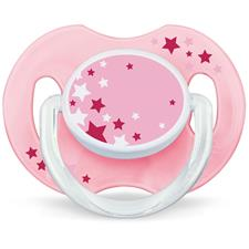 Distributor of Philips Avent Night-Time Soothers Pink 0-6m 2Pk