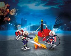 Playmobil Firefighters with Water Pump