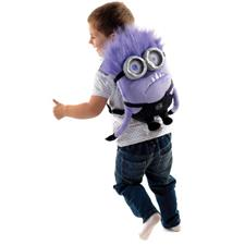 Despicable Me Purple Minion Plush Backpack