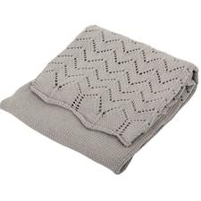 Silvercloud Cotton Shawl Baby Grey