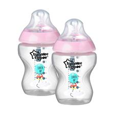 Tommee Tippee Closer to Nature Decorated Bottle 260ml 2Pk