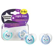 Tommee Tippee Closer to Nature Night Time Soother 0-6m 2Pk