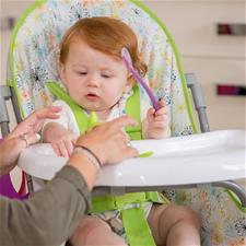 Vital Baby Silicone Spoons Purple 2Pk