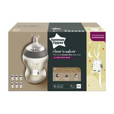 Wholesale of Tommee Tippee Closer to Nature Decorated Bottle Owl 260ml 6Pk