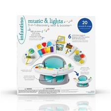 Nursery products distributor of Infantino Music & Lights 3-in-1 Discovery Seat & Booster