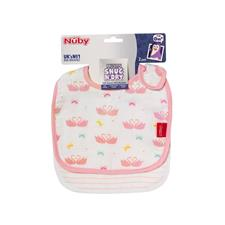 Nursery products distributor of Nuby Muslin Snug n Dry Bib 2Pk