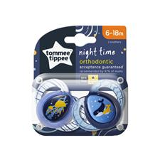 Baby products distributor of Tommee Tippee Closer to Nature Night Time Soother 6-18m 2Pk