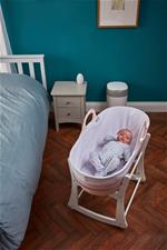 Nursery products supplier of Tommee Tippee Sleepee Basket & Stand - Gentle Pink