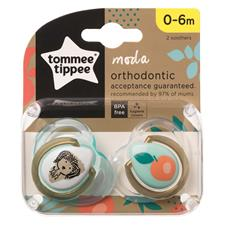 CTN Moda Soothers Twin Pack 0-6m