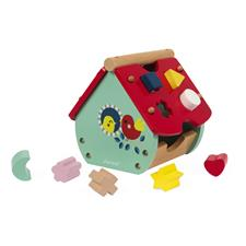Distributor of Janod Baby Forest House Shape Sorter