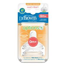 Wholesale of Dr. Brown's Options+ 0m Teat 2Pk