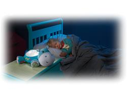 Hippo Plush Projection Soother Lifestyle
